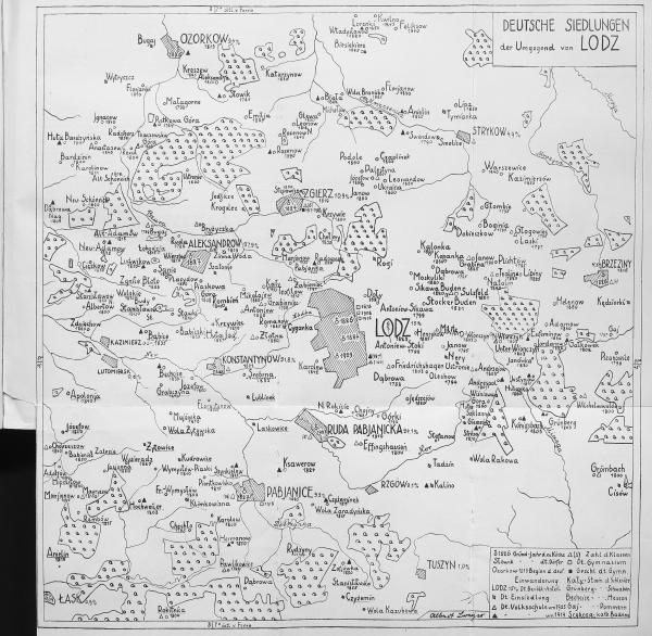 Karte-Breyer-Die-deutschen-Dörfer-der-Umgegend-von-Lodz